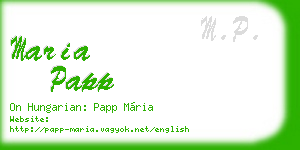 maria papp business card